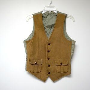 Other - suede front . men's vest . medium
